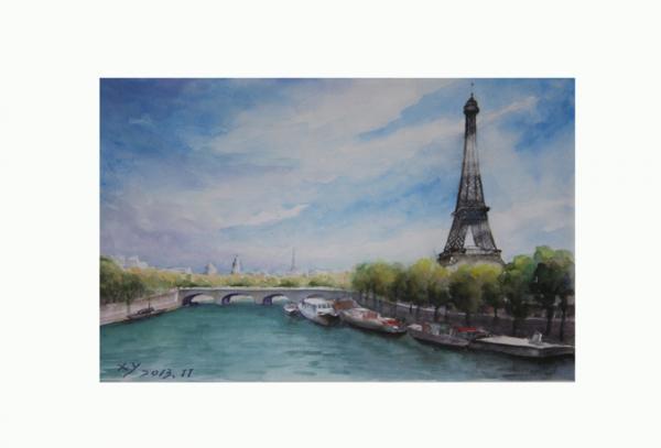中国画家徐毅《北京胡同与巴黎风景水彩画展》开展